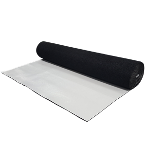 A roll of home acoustic underlay for laminate, vinyl, hardwood and engineered hardwood.